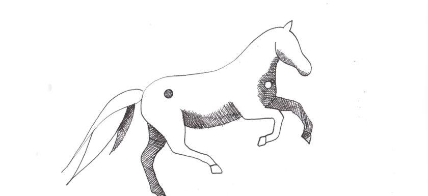 Yin Yang Pferd